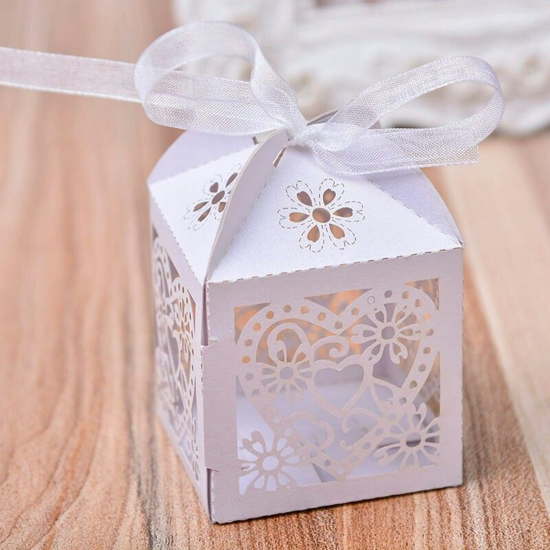 Decorated Gift Boxes Laser Cut Baby Shower Party Birthday Decorations Gift Boxes
