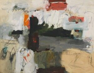 Whitney Museum of American Art: Larry Rivers: Washington, 214.3 × 275.3 cm Crossing the Delaware