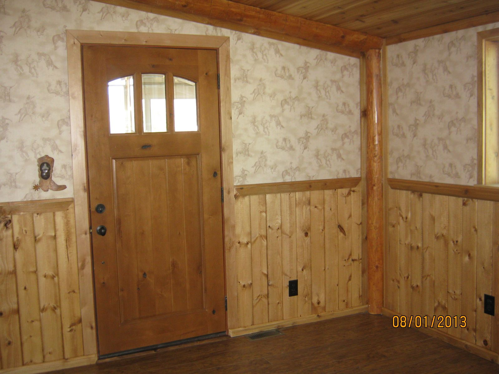 New Living Room Addition Ceiling Is Cedar Knotty Pine