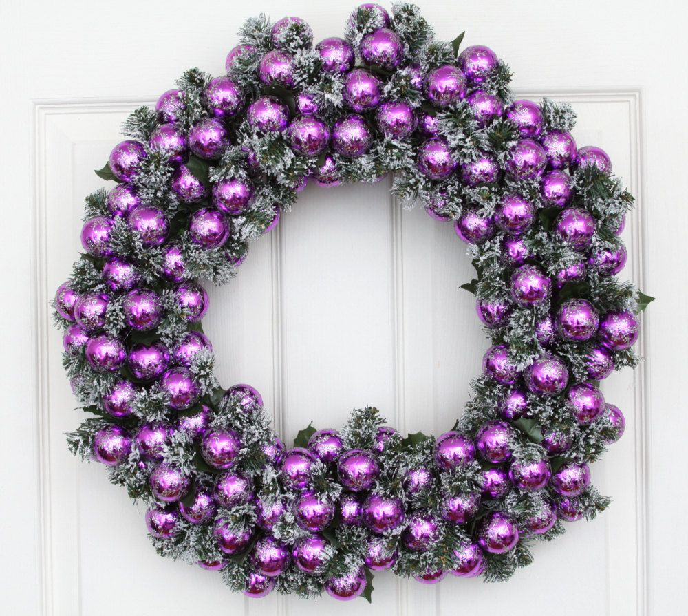 Gallery for purple christmas decorations - Is purple a christmas color ...