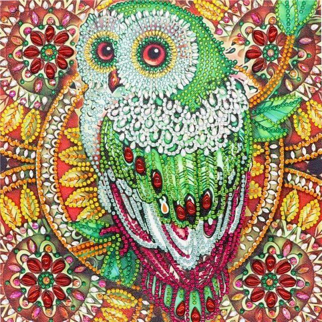 Photo of 5D DIY Diamond Painting Special Diamond Embroidery Flower Tree Owl Diamond Painting Rhinestone Crystal Home Decoration Diamond Painting Cross Stitch  – 2 / 30*30cm