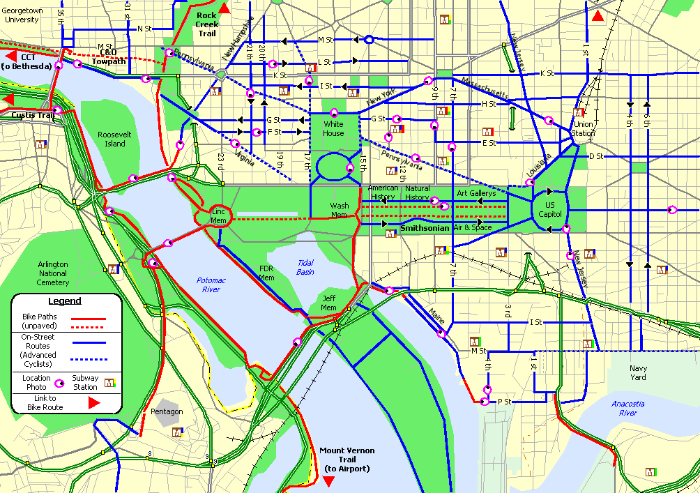 See Washingtons Most Popular Bike and Running Routes in One Map