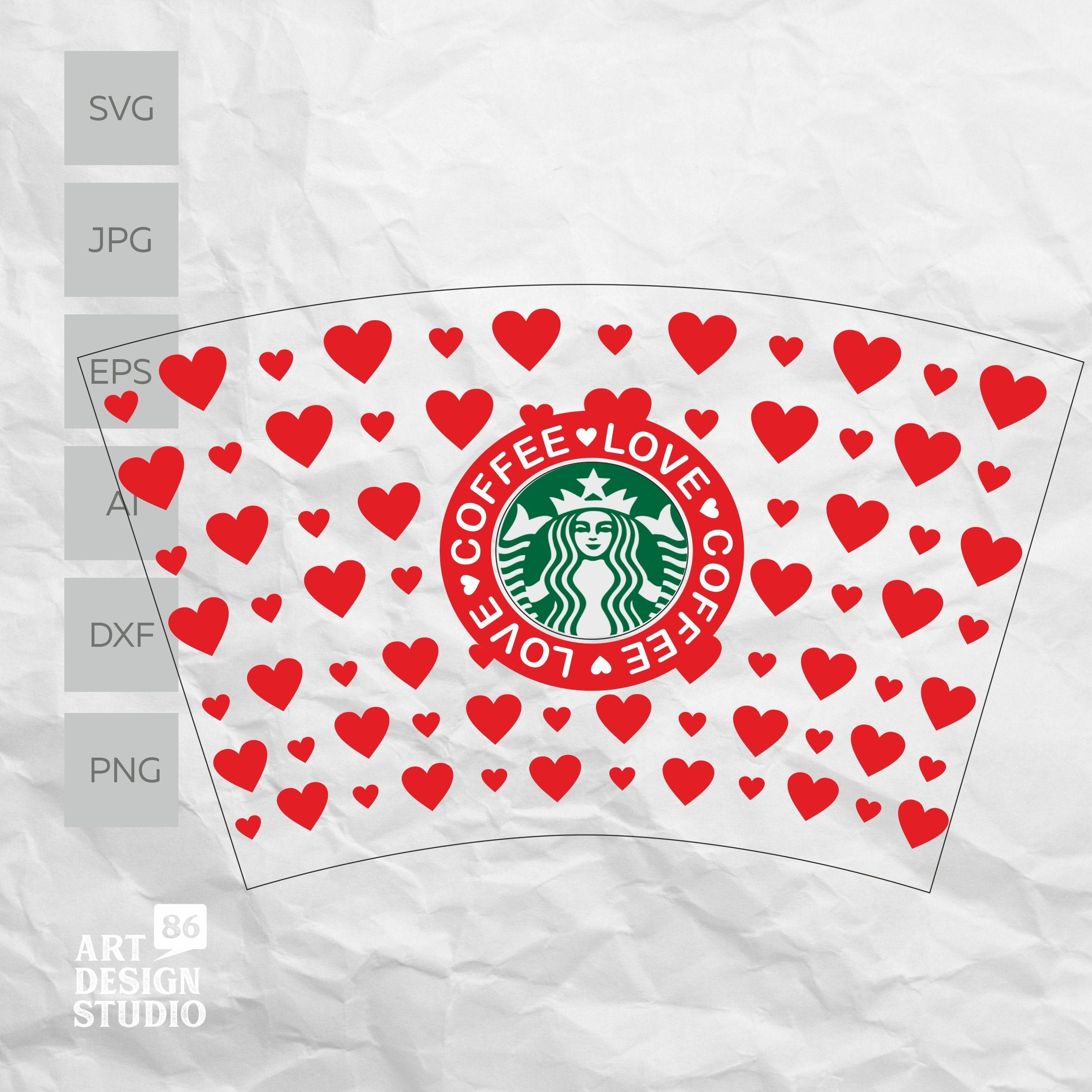 Full Wrap Template for Starbucks Venti Cold Cup for DIY