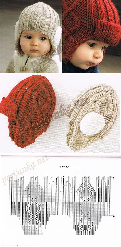 Los gorritos | dos agujas patrones | Pinterest | Gorros, Tejido y Bebe