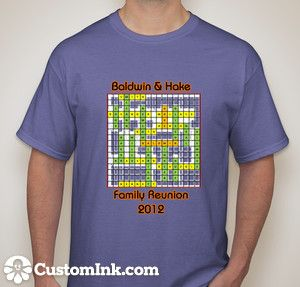 a106e7b5e Our family reunion Tshirt Design. All of our last names formed into a  crossword puzzle. CustomInk.com