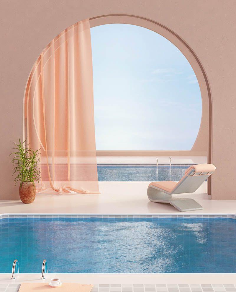 Summer in Spain, diseño arquitectónico 3D de Simon