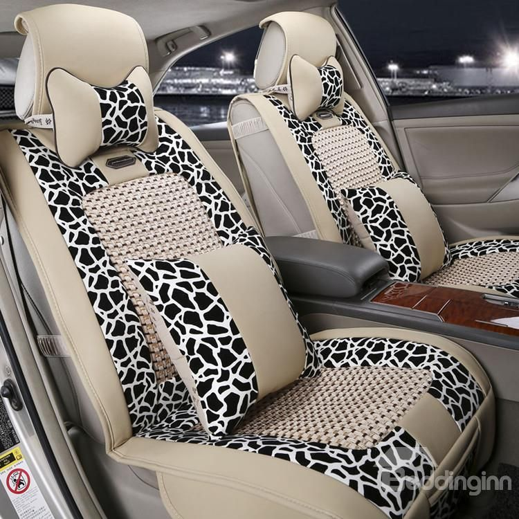New arrival high quality luxury beige leopard print seat - Car seat covers for tan interior ...