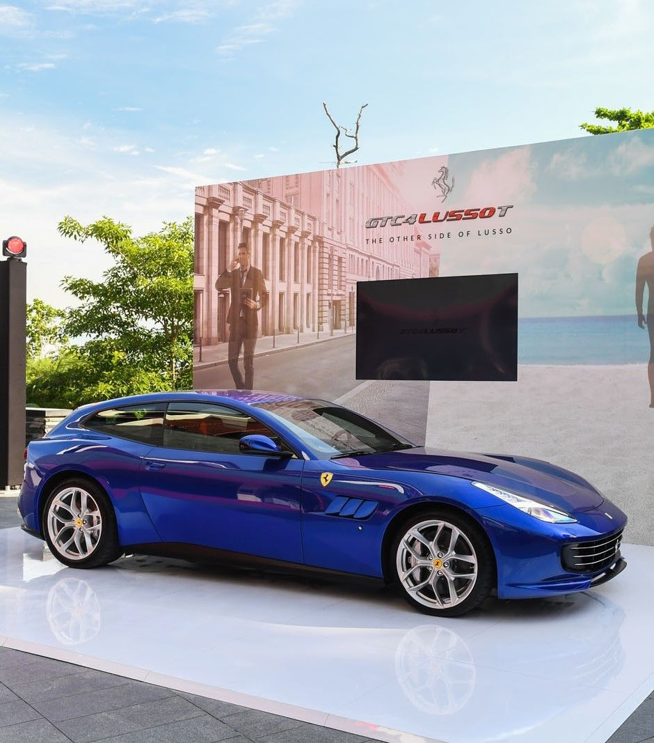 ferrari gtc4 lusso t hits singapore on post paris world tour ferrari cars and luxury cars. Black Bedroom Furniture Sets. Home Design Ideas