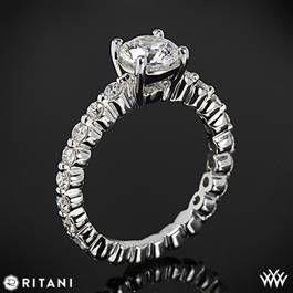 Ritani 1RZ1888 Shared-Prong Diamond Band Engagement Ring