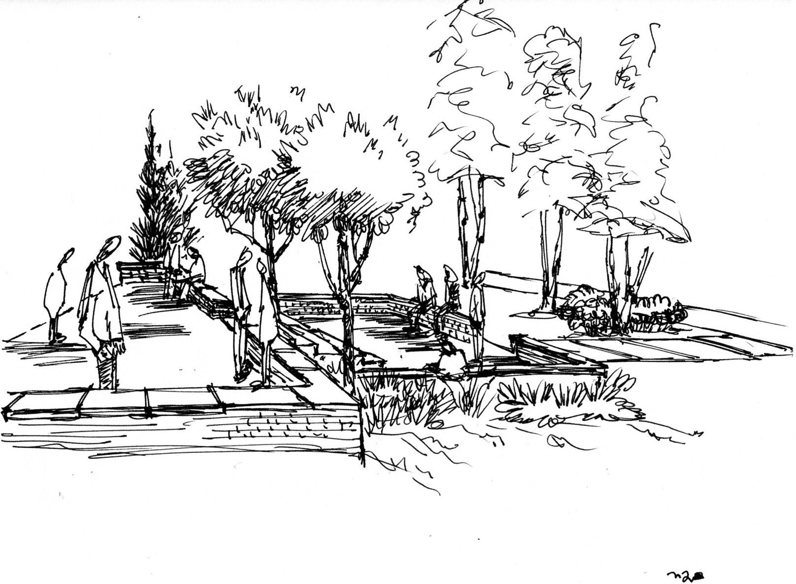 A Tale Of Two Levels Landscape Architecture Drawing Landscape
