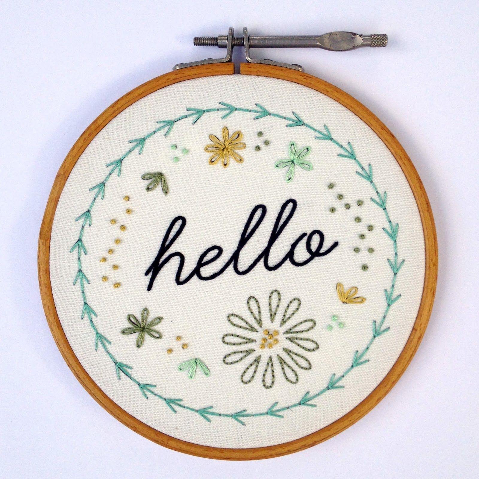 salty oat: modern quilts: hello embroidery sampler | g | Pinterest ...