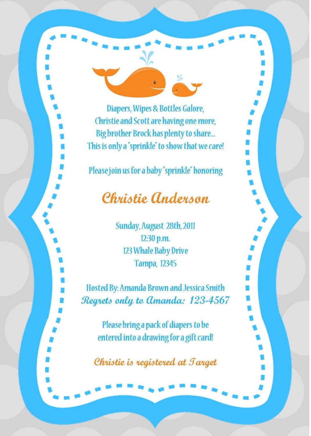 Baby Shower Invitation Wording For Male And Female | http://atwebry ...