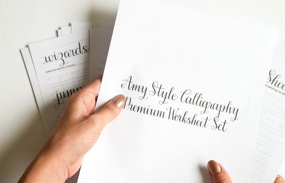A guide to tpk calligraphy styles: amy flourish formal kaitlin