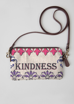 Kindness by Kay Duncan Statement Clutch Leather clutch