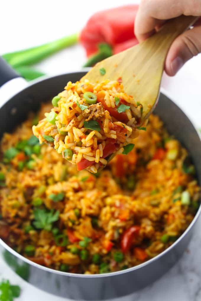 Djuvec Reis - super einfach und lecker #vegetariandish