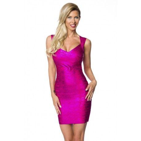 Bandage-Shape-Kleid in pink | Kleider damen, Damenkleider