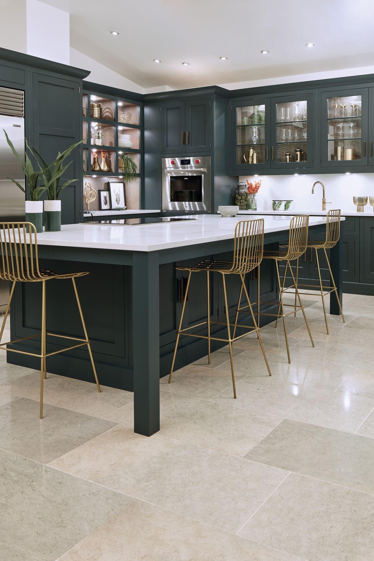 20 Stunning Dark Kitchen Ideas Dark Green Kitchen Shaker Style Kitchens Dark Kitchen Cabinets