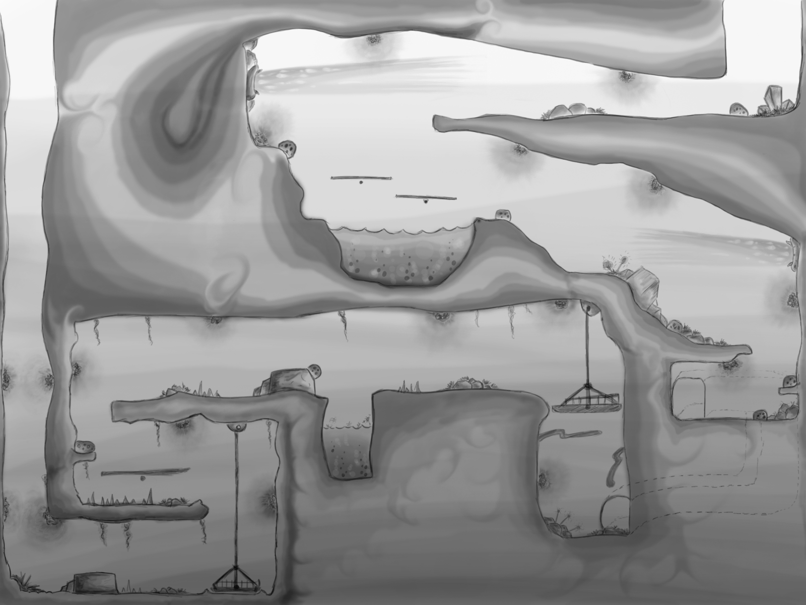 sidescroller map Google Search Game level design