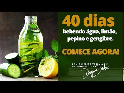 40 Dias Bebendo Agua Com Limao Pepino E Gengibre Youtube Com