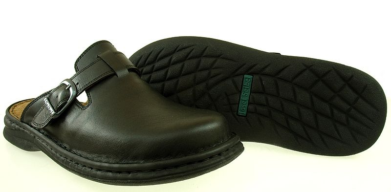 Meskie Klapki Josef Seibel 10122 Schwarz Obuwie Meskie Klapki Josef Seibel To Wysoki Komfort Wykonane Ze Skory Naturalnej Kolor Czar Shoes Fashion Clogs