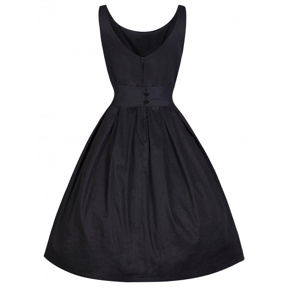 68ef67bd3eba77 Lindy Bop 50er Jahre Vintage Rockabilly Petticoat Kleid - Lana - Schwarz