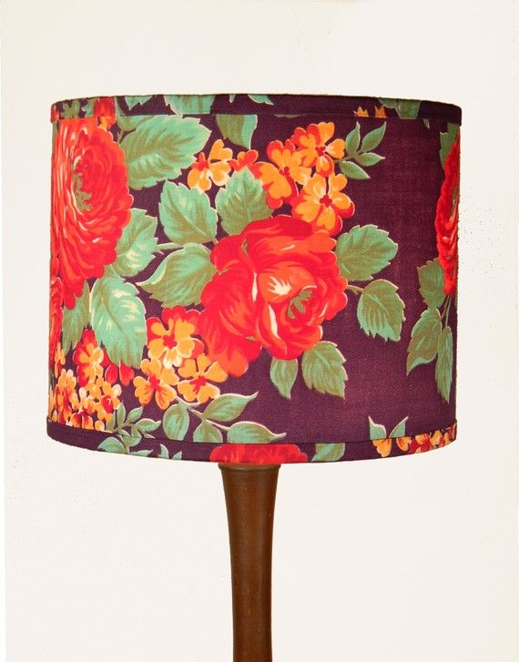 Russian Floral Lampshade By Material Recovery Antique Lamp Shades Shabby Chic Lamp Shades Lamp Shades