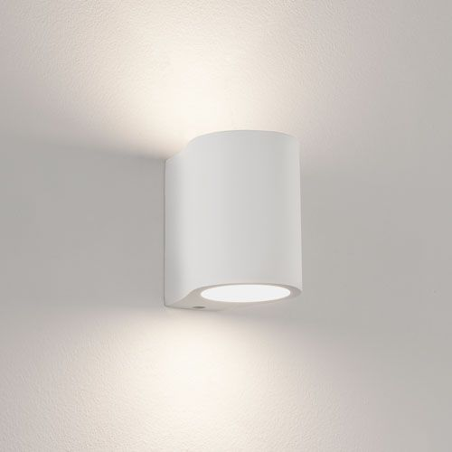 Pero White Plaster Wall Light Paintable And Dimmable Up Down Ing Ax0812