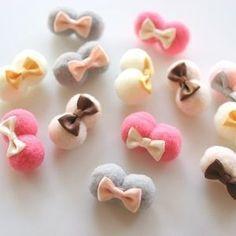 Pinza para el cabello Kids Fluffy Baby Color Ponpon Ribbon-MyK ... #babyhairaccessories