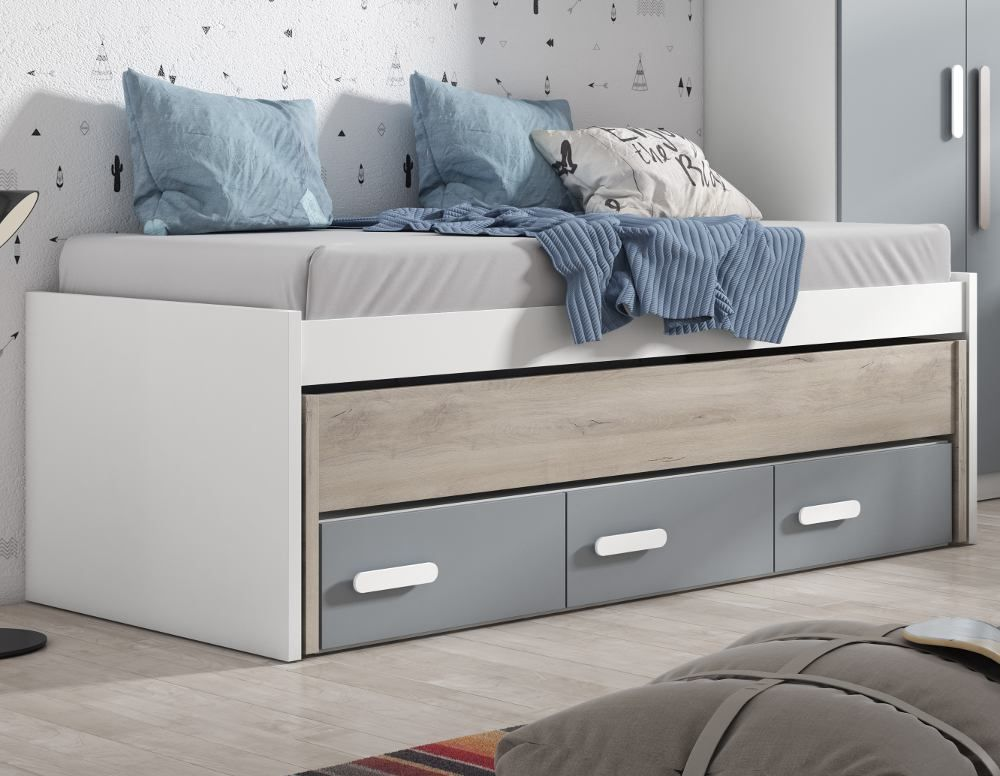 Sofa Cama Niza Conforama.Cama Compacta Con 3 Cajones Lupy Space Savings Space
