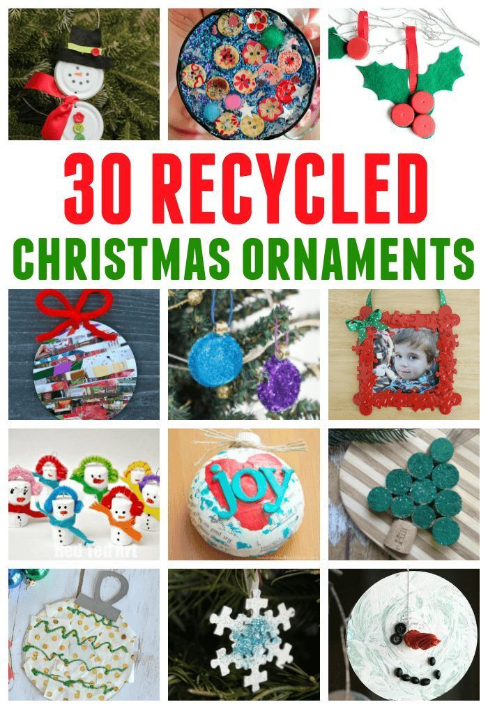 A Great Collection Of Christmas Ornaments Made With Recycled Materials Categoriz Christmas Ornaments To Make Christmas Ornaments Recycled Christmas Decorations