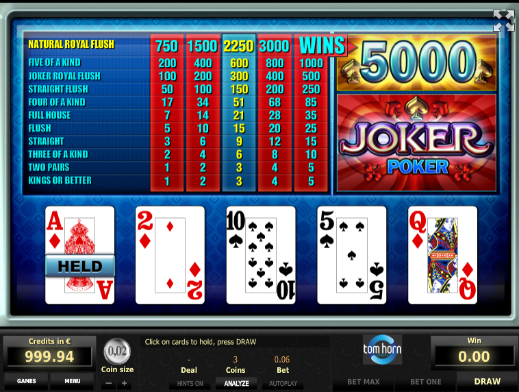 Покер джокер играть онлайн бесплатно смотреть ограбить казино онлайн