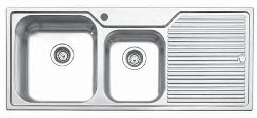 Undermount Kitchen Sinks With Drainboard oliveri 273-1 drain board series undermount sink, stainless steel