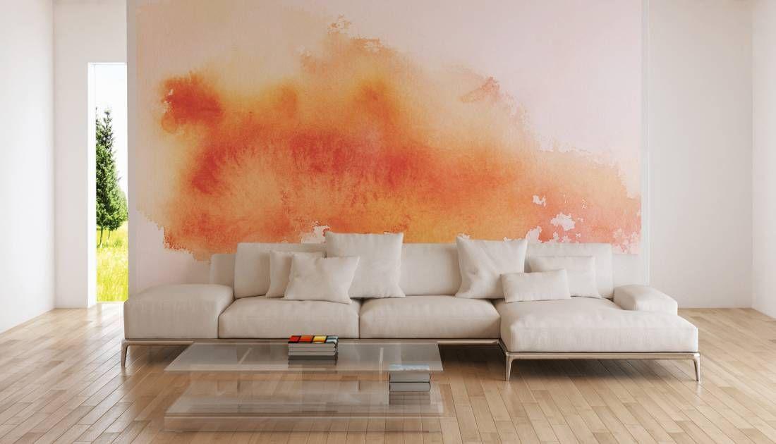 Tapeten im Wohnzimmer; Fototapete «Wasserfarbe» DD102973