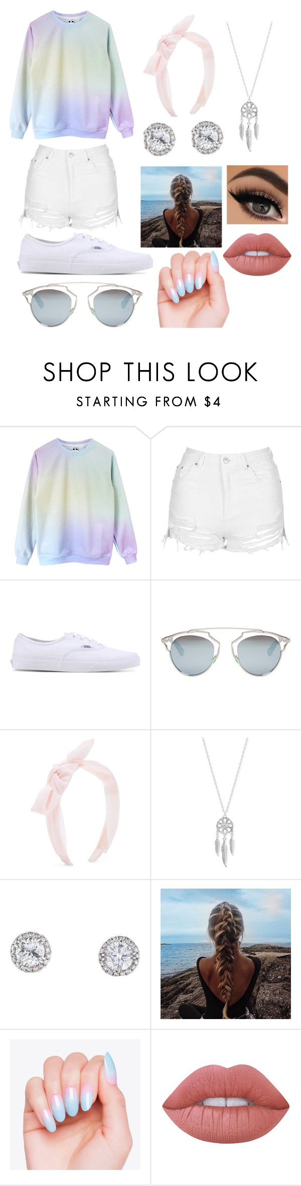 """""""Pastel"""" by princessevelyn31 on Polyvore featuring Topshop, Vans, Christian Dior, New Look, Lucky Brand and Lime Crime"""
