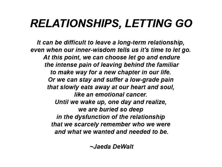 It Can Be Difficult To Leave A LongTerm Relationship Even When