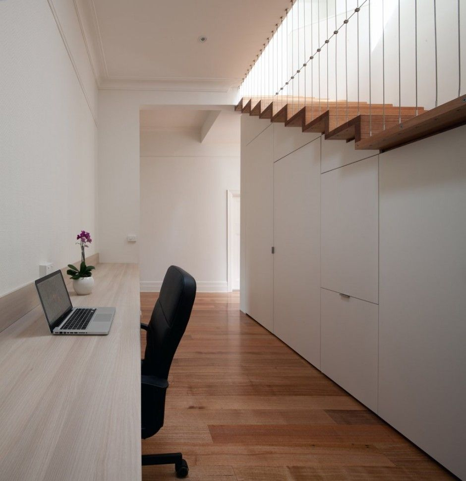 Contemporary hallway ideas  Abbotsford RenovationExtension by CHAN Architecture  Interiores