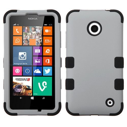 MYBAT TUFF Hybrid Case for Nokia Lumia 635 / 630 - Gray/Black