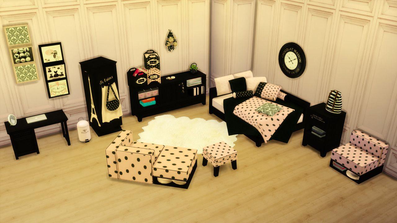 CHIC PARIS BEDROOM SETSET INCLUDESBed BeddingArmchairSofaPouf ...