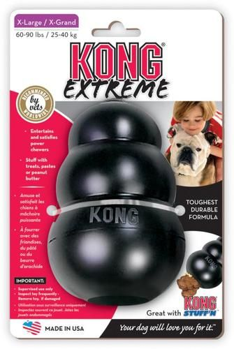 Kong Extreme Rubber Chew Treat For Aggressive Chewers World S Best