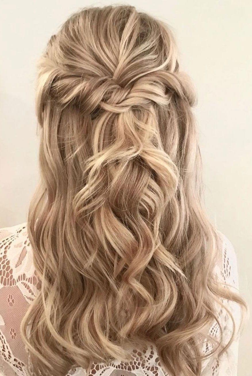 39 Gorgeous Half Up Half Down Hairstyles Braid Half Up Half Down Hairstyles Partial Updo Hair Down Hairstyles Wedding Hairstyles For Long Hair Partial Updo