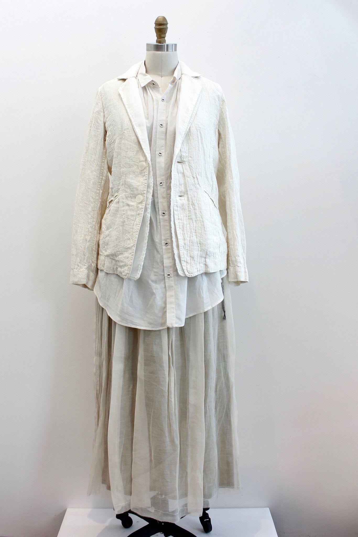 Pas de Calais Linen Jacket in Ivory