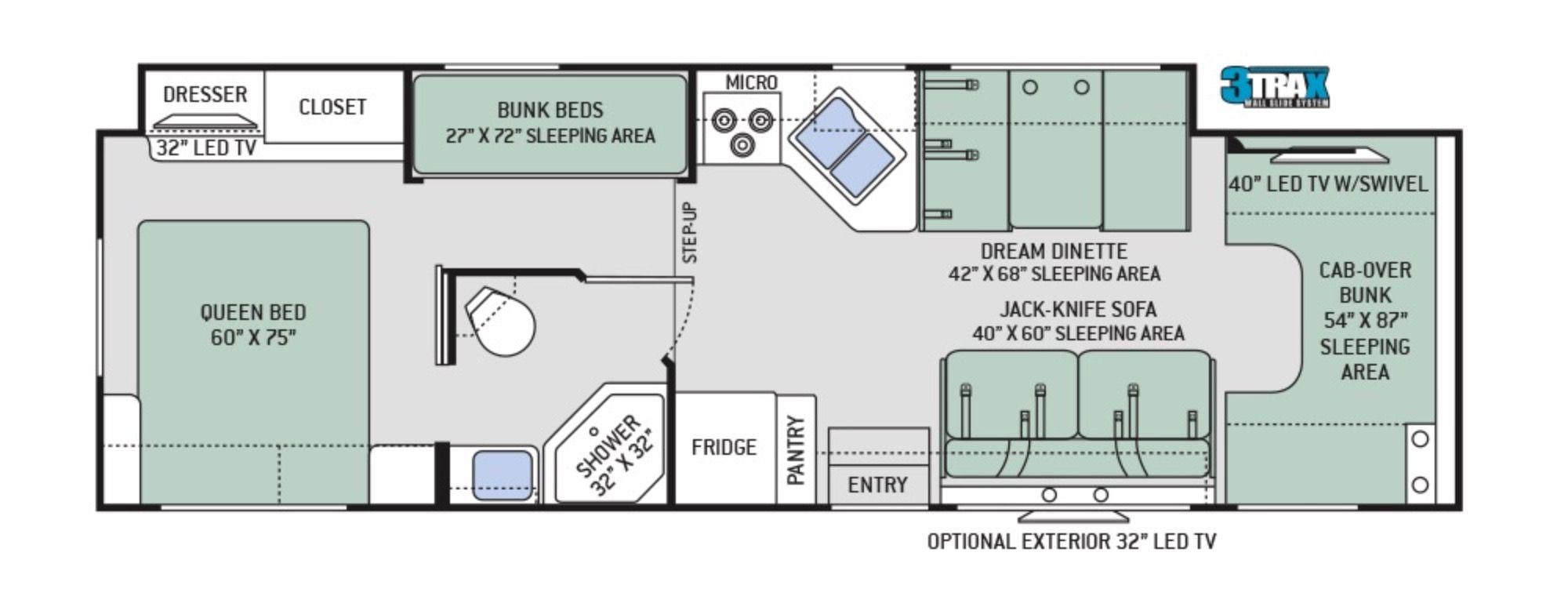 Floor plan rv floor plans thor motor coach floor plans