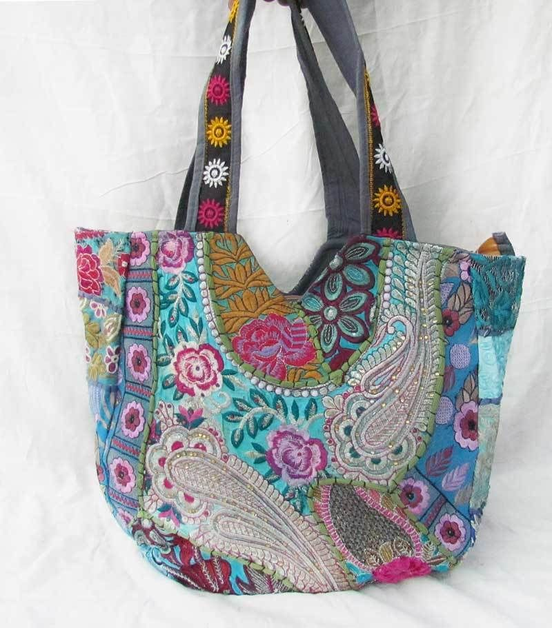 Stylist Handmade Vintage Large Ethnic Southwest Handbag Geometric Khambadi Bag N