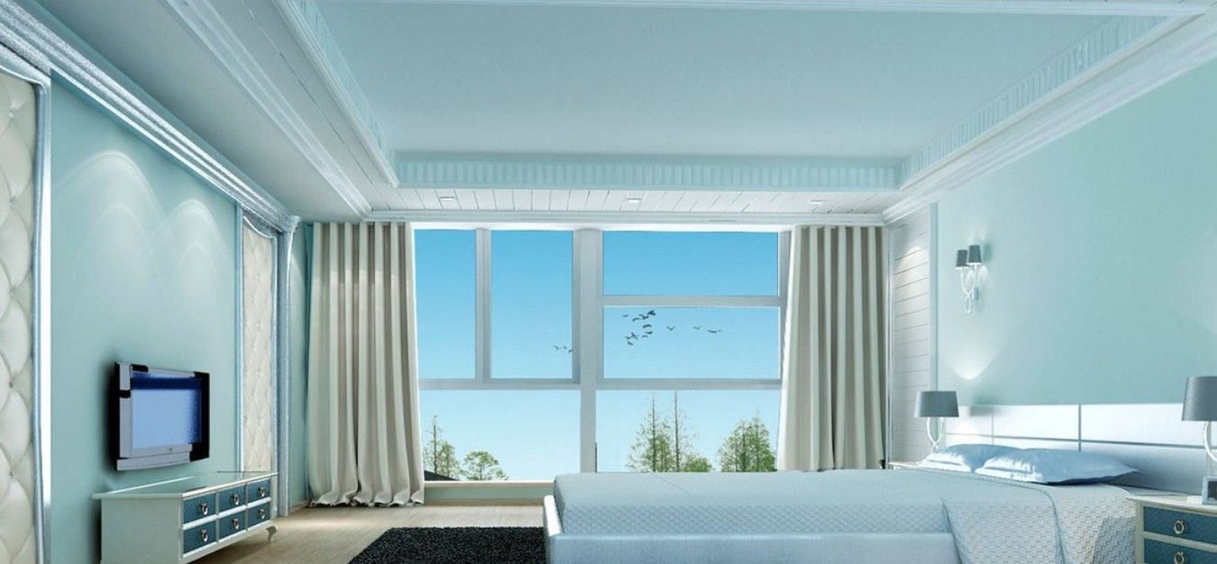Light Blue Rooms light blue bedroom rendering neoclassical design | colors for