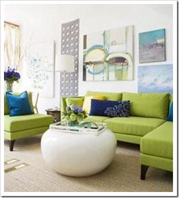 Vancouver Interior Designer; The Versatile Green Sofa