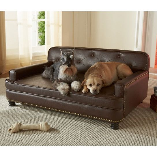 Encantado Espresso Dog Sofa Bed Luxury Dog Beds At Glamourmutt