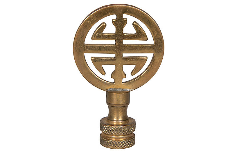 Chinese Fook Finial Gold Bradburn Home Products