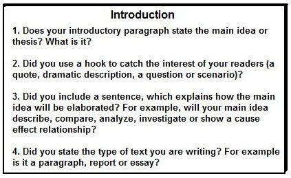 Opening paragraph for an essay