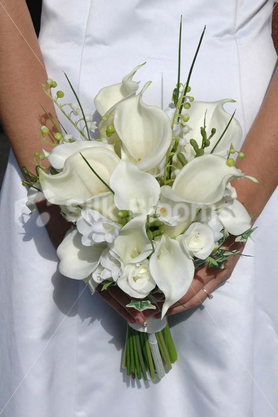 Calla Lily And Rose Bouquets For Weddings Elegant Ivory Calla