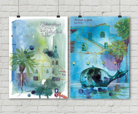 Israel Yafo Baleine Jonas Bible Mosquee Bleu Jaffa